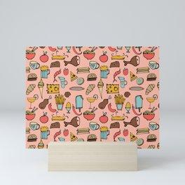 Food Frenzy pink Mini Art Print