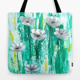 Gray poppies Tote Bag