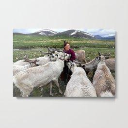 Tsaatan nomads, Mongolia Metal Print