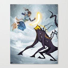Korra and the Spirit Canvas Print