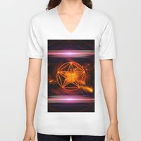 pentagram V-neck T-shirts featuring Pentagram  by nicky2342