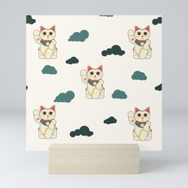 manekineko pattern Mini Art Print