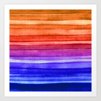 Stripes and Colors Art Print