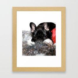 Xmas Frenchie I Framed Art Print