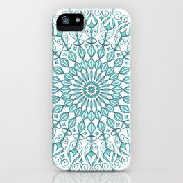 Aqua mandala iPhone Case