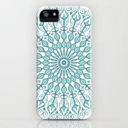 Aqua mandala iPhone Case