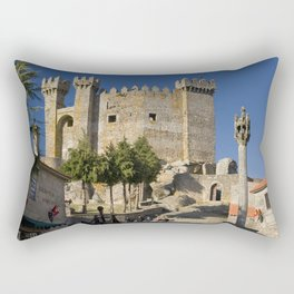 Medieval fortress in Portugal Rectangular Pillow