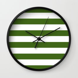 Simply Stripes in Jungle Green Wall Clock