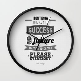 Key to Success Wall Clock
