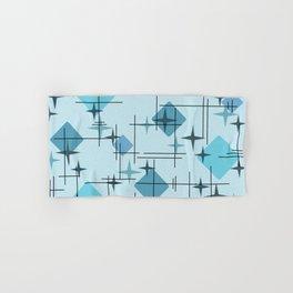 MidCentury Modern Pattern Blue Hand & Bath Towel