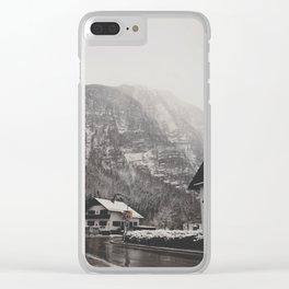 hallstatt under the snow (6) Clear iPhone Case
