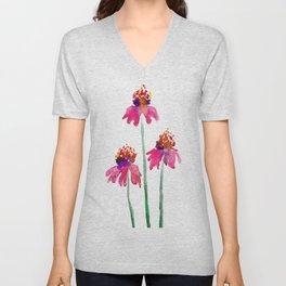 Echinacea Unisex V-Neck