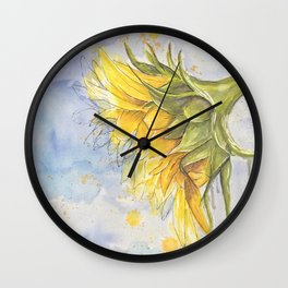 Helianthus annuus: Sunflower Abstraction Wall Clock