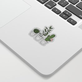 Three Little Succulents Sticker