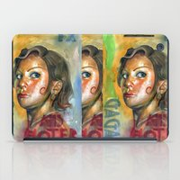 ahs iPad Cases featuring AHS Hotel-LadyGaga as Young Elizabeth by Abhivision