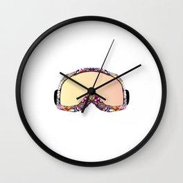 Skigoggles vector art with mandala design Wall Clock