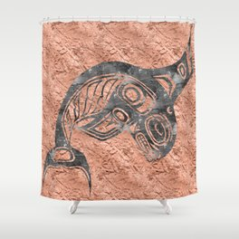 Smoke Keét Copper Shower Curtain