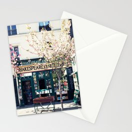Cherry blossoms in Paris, Shakespeare & Co. Stationery Cards