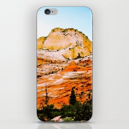 mountain in the forest iPhone Skin