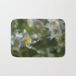 Avalanche Lily Painterly Bath Mat