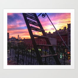 East Village Summer Sunset Art Print