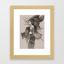 Forest call Framed Art Print