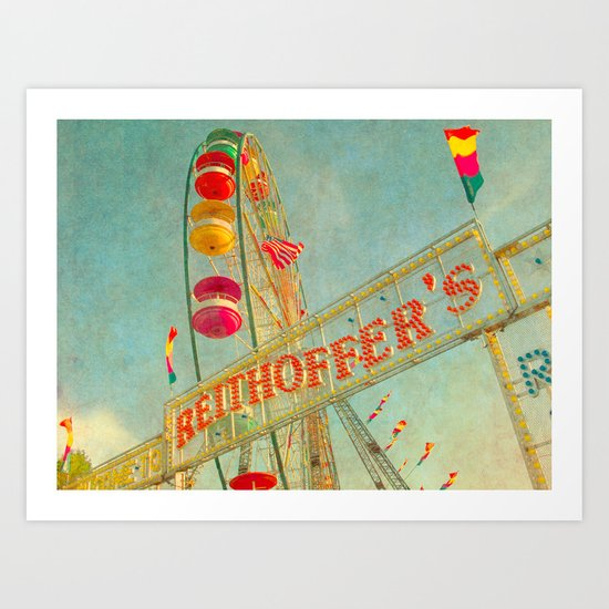 Child at Heart carnival ferris wheel circus Art Print
