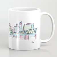 portland Mugs featuring Portland by Ursula Rodgers
