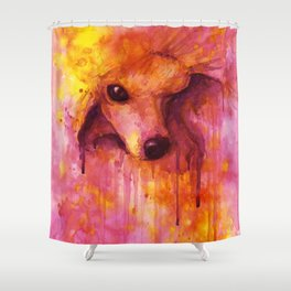 Poodle Eve Shower Curtain
