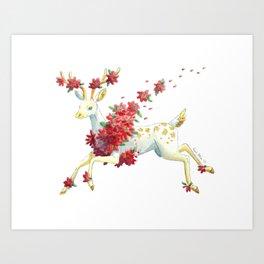Poinsettia Spirit Art Print