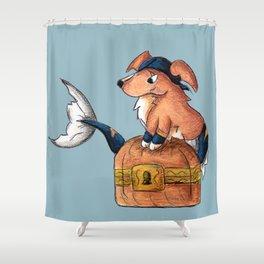 Treasure Retriever Shower Curtain