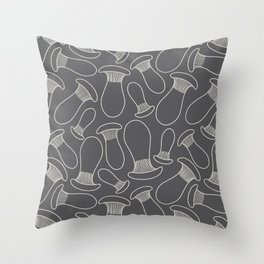 king oyster mushrooms Throw Pillow