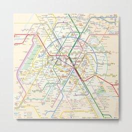 Subway of Paris Metal Print