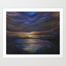 out of darkness comes light Art Print