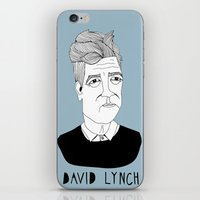 lynch iPhone & iPod Skins featuring David Lynch by Elena Éper