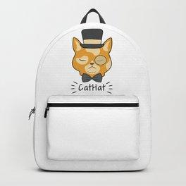 Cat Hat Arrogant Animal Love Pet Gift Backpack