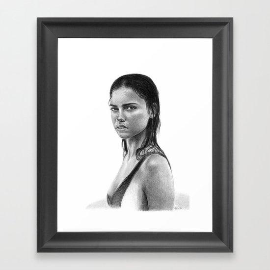Adriana Lima Framed Art Print