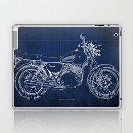 24-2013 Suzuki TU250X BLUE, Bike blueprint, gift for man Laptop & iPad Skin