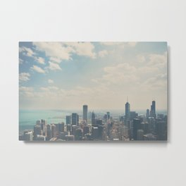 Looking down on the city ... Metal Print
