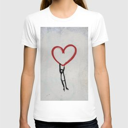 heart wall T-shirt
