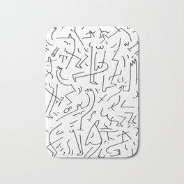 doodle people 3 Bath Mat