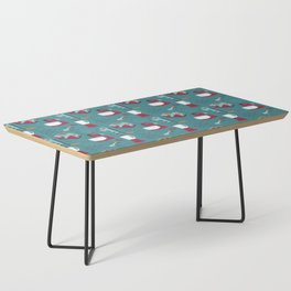 Retro Kitchen - Teal and Raspberry Coffee Table