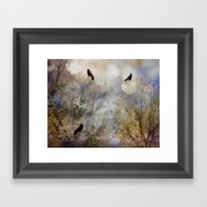 Crow Bling Framed Art Print