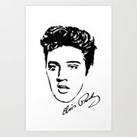 elvis Art Prints featuring Elvis! by John Medbury (LAZY J Studios)