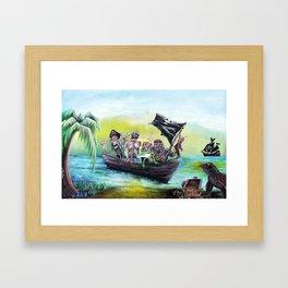 Pirate Booty Beach Framed Art Print
