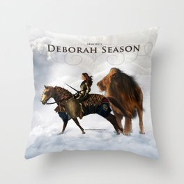 Deborah Season -Armored - David Munoz Prophetic Art Throw Pillow