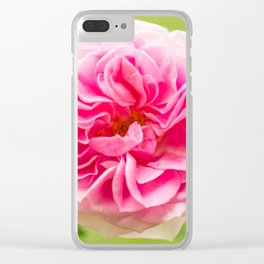 Pink Rose On A Natural Green Background #decor #society6 #buyart Clear iPhone Case