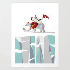 Private Penguin's Polar Percussion Art Print