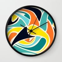 wind Wall Clocks featuring Wind by Josh Franke