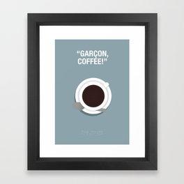 Garçon, Coffee! - Pulp Fiction Fanart Poster 2 Framed Art Print